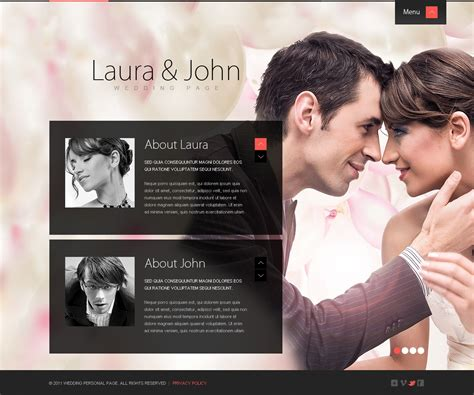 Wedding Album Reviews by Wedding Album Website Template 36825