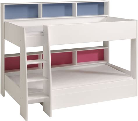 bed with shelves parisot tam tam white bunk bed with shelves the home and