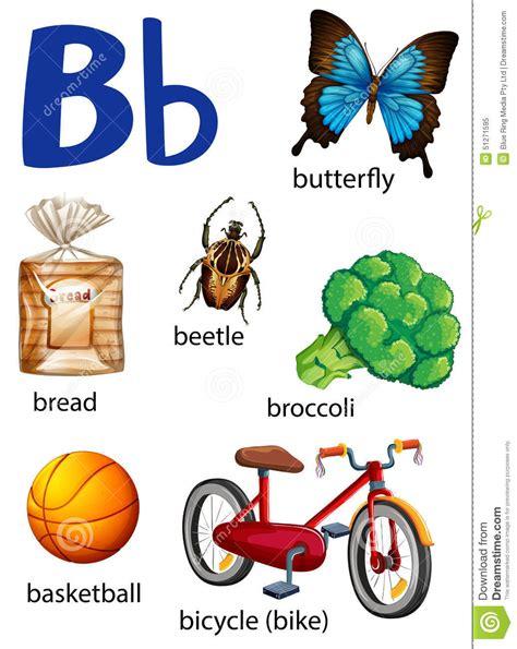 imagenes que empiecen con la letra b para recortar cosas que comienzan con la letra b ilustraci 243 n del vector