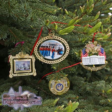 1994 1997 white house set of four christmas ornaments