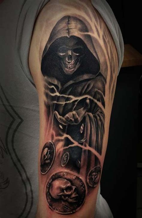 full body grim reaper tattoo mystic grim reaper tattoos azrail d 246 vmeleri tattos