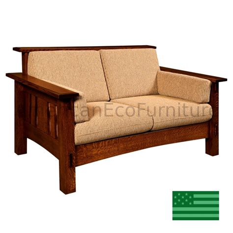 Wooden Loveseat amish mccoy loveseat solid wood made in usa american