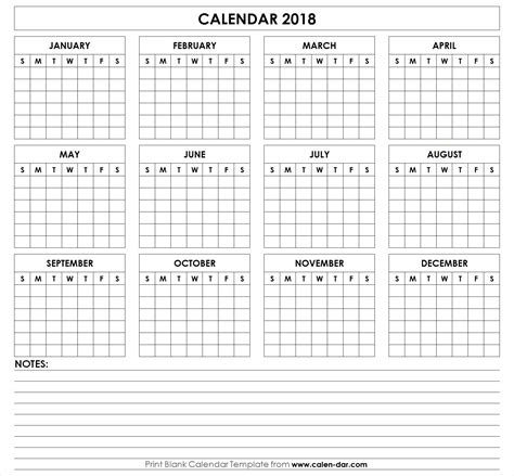 printable 2018 calendar templates and images