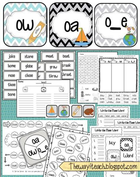 ow pattern words 17 best images about ow and oa sound on pinterest the
