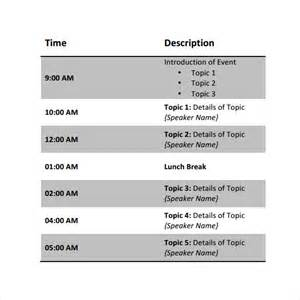 conference template sle conference schedule 9 documents in pdf word