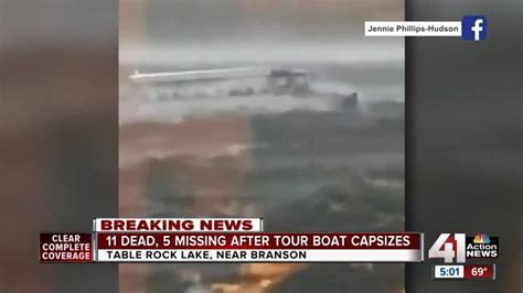 duck boat sinking video 17 killed in missouri duck boat sinking ranged in age from