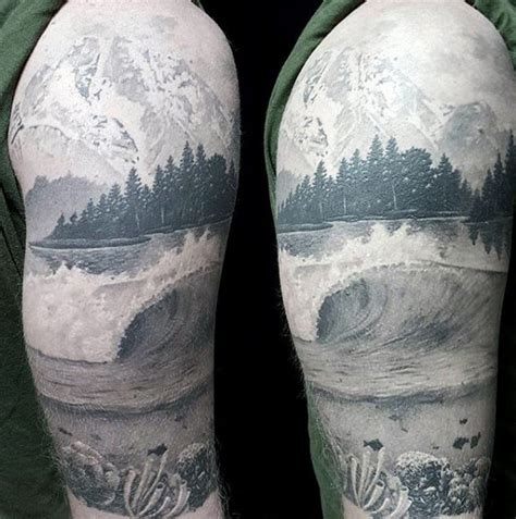 nature quarter sleeve tattoo 100 nature tattoos for men deep great outdoor designs