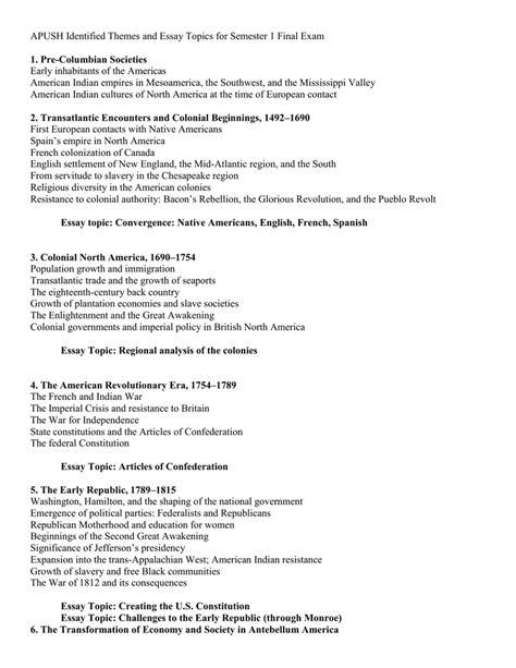 American Revolution Essay Topics by Essay Topics American Revolution Docoments Ojazlink