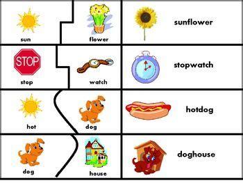 printable word picture matching games compound words puzzle match teacherspayteachers com
