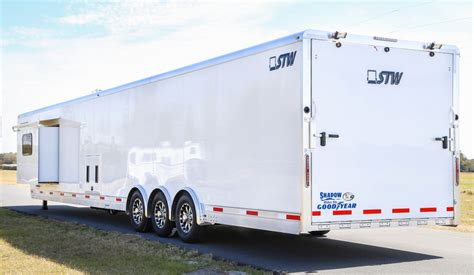with trailer new stw enclosed cargo trailer with 14 living quarters