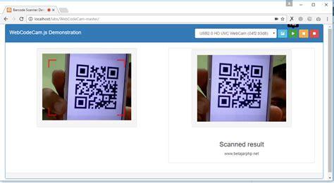 membuat qr code php membaca qr code menggunakan webcam dengan jquery