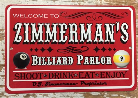 personalized signs man cave game room bar shop trophy