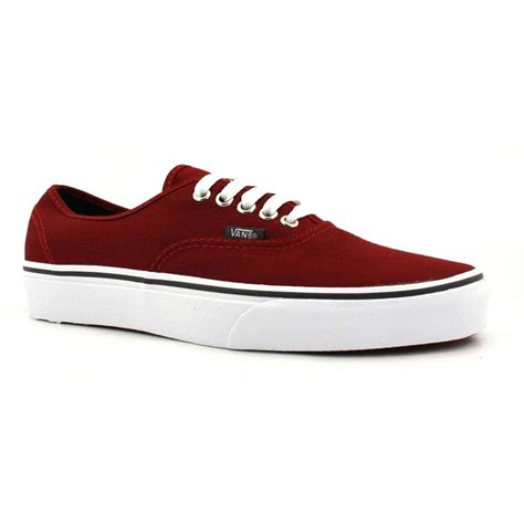 Vans Authentic Classic Maroon vans authentic maroon canvas trainers shoes ebay