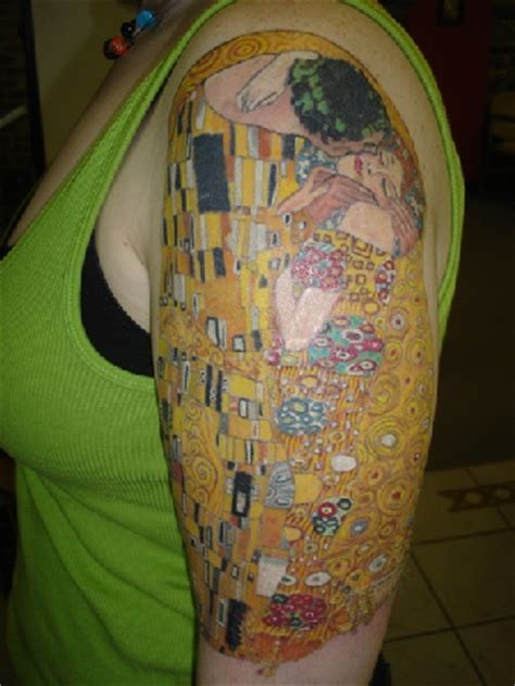 klimt half sleeve tattoo by strange cat on deviantart