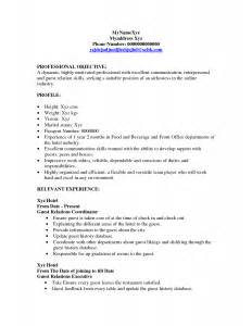 resume for hostess best template collection