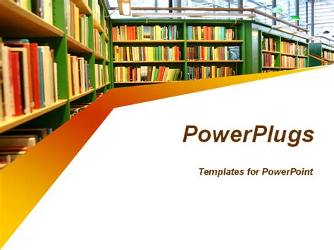 library powerpoint template great template for presentations on childrens books
