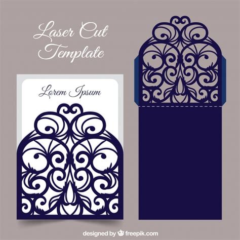 cutting templates card laser cut card template vector free