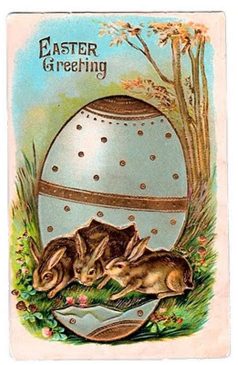 victorian graphic easter bunnies  egg  graphics fairy