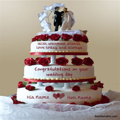 Wedding Name Generator by Write Your Name On Big Wedding Cake Wishes Pictur