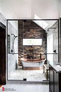 home interior design with tiles modern bathroom with rustic elements home design and