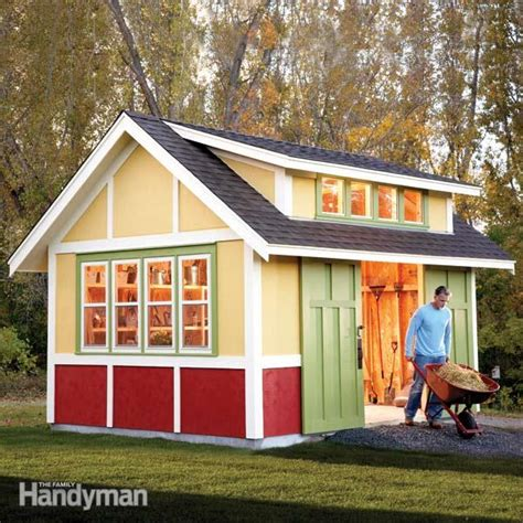Diy Workshop Shed by How To Build A Shed 2011 Garden Shed The Family Handyman