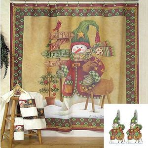 christmas bathroom shower curtains country christmas shower curtain xmaspin