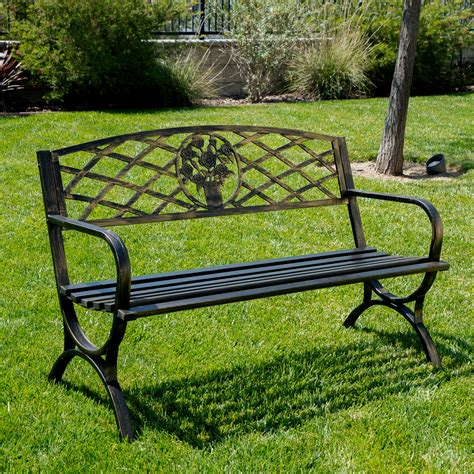 metal porch bench outdoor bench patio chair metal garden furniture deck