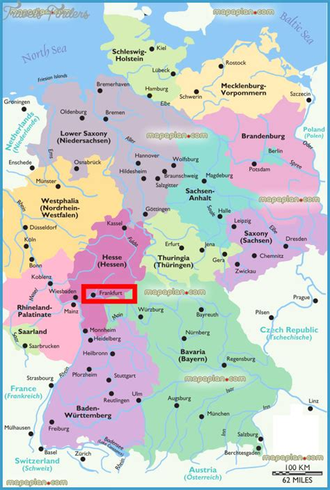 map of tourist attractions frankfurt map tourist attractions travelsfinders