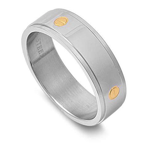 stainless steel s s plain wedding ring unique