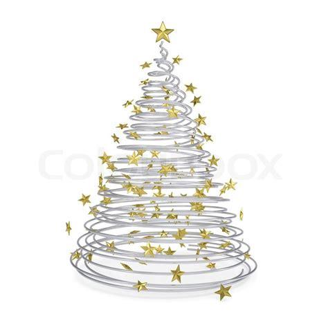 weihnachtsbaum aus metall spiralen stock bild colourbox