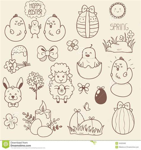 doodle resurrection set of easter doodles stock vector image 49425582