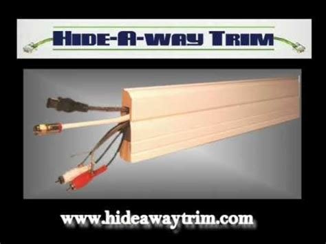 trim to hide wires hide away trim