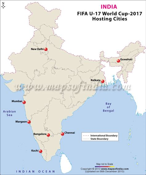 world cup host cities map india to host 2017 17 fifa world cup map in news