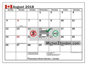 Canada Calendrier 2018 Calendar To Print August 2018 Holidays In Canada