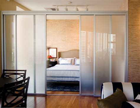 Door Divider by Sliding Glass Room Dividers Bedroom
