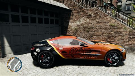 2010 aston martin one 77 gumball 3000 paintjob для gta 4