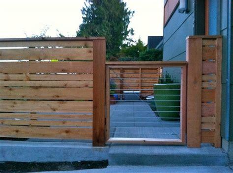 horizontal wood fence  gate walls fences gates