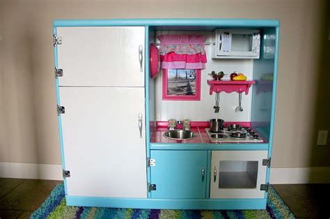 Turn Entertainment Center Into Play Kitchen by Turn An Entertainment Center Into A Realistic Play