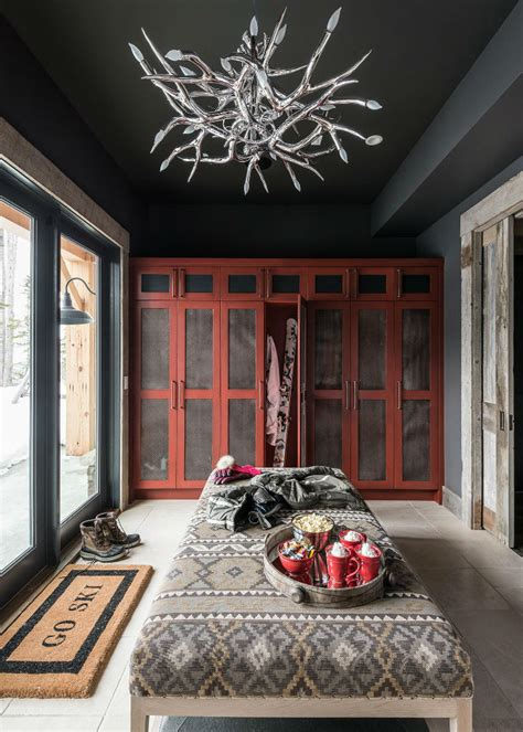 log cabin style meets ethnic  modern interior design