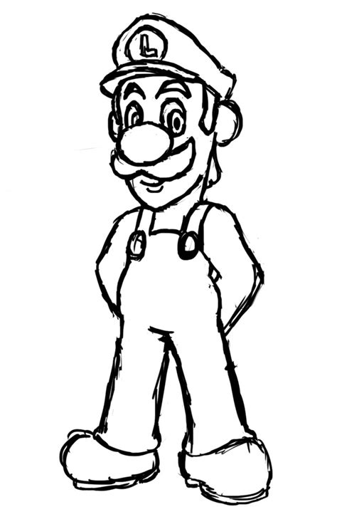 free printable luigi coloring pages for