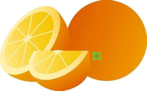 orange clipart orange whole half and wedge free clip
