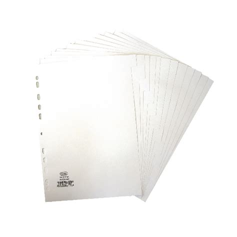 Elba Sorter Book A4 Tabs elba a4 12 part index divider white plain tabs 400007502