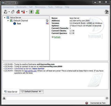 teamspeak server how to connect to a teamspeak 3 server knowledgebase