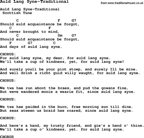 printable lyrics auld lang syne summer c song auld lang syne traditional with lyrics