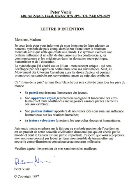 idee lettere d id 233 e modele lettre d intention