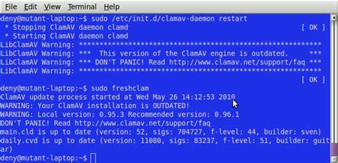 tutorial clamav ubuntu instalasi scan update clamav pada linux ubuntu blog