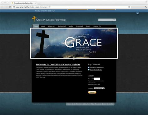 Church Web Templates by New Church Website Templates Released