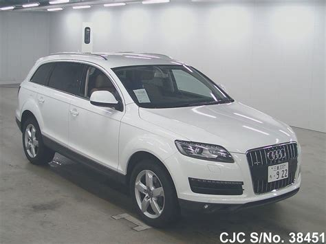 Audi Q7 For Sale by 2011 Audi Q7 White For Sale Stock No 38451 Japanese