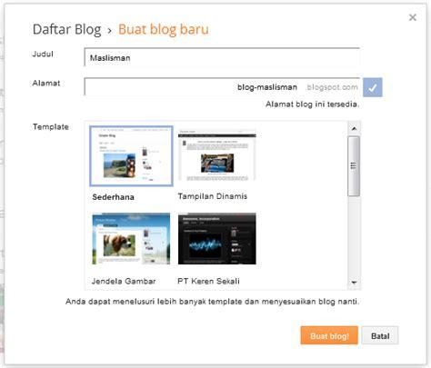 cara cepat membuat blog gratis di blogspot tanpa ribet cara cepat buat blog di blogger gratis campur aduk