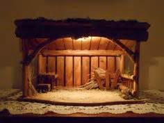 Nativity stable manger cr 232 che barn handcrafted in usa dimensions